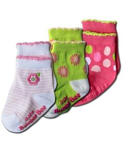 Bumble Bee: Socks - Spring Daisy Socks 3 Pairs (0-12 months)