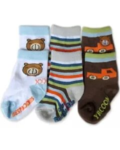Bumble Bee: Socks - Bear Car Socks 3 Pairs (12-24 months)