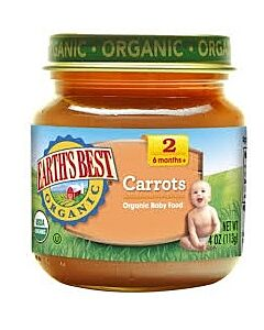 Earth's Best: Organic Carrots (Stage 2 - From 6 Months) 4oz - 17% OFF!