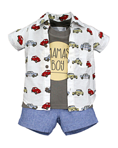 Wonder Child Collection: Classic Cars - Shirt/Top/Shorts (18 - 24 Mths) - 10% OFF!