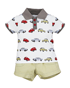 Wonder Child Collection: Classic Cars - Polo & Shorts (6 - 12 Mths) - 10% OFF!