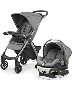 CHICCO Mini Bravo Plus Travel System (Stroller + KeyFit30 car seat with Isofix base) - [Slate] - 40% OFF!!