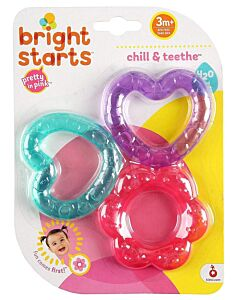 Bright Starts: Chill & Teethe (H2o Filled) - Pretty In Pink - 10% OFF!!