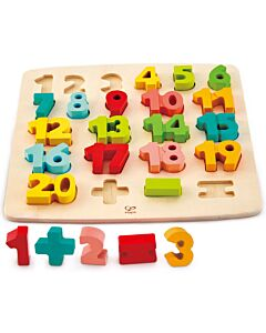 Hape Toys: Chunky Number Math Puzzle (3+ Years) - 15% OFF!!