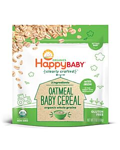 Happy Baby: Clearly Crafted Baby Cereal 198g - Oatmeal