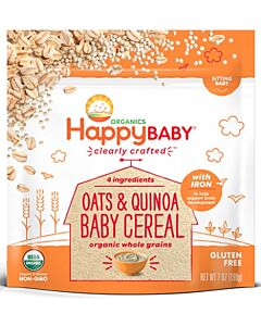 Happy Baby: Clearly Crafted Oats & Quinoa Baby Cereal 198g