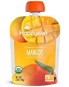 Happy Baby: Clearly Crafted Mangos (Stage 1) 99g