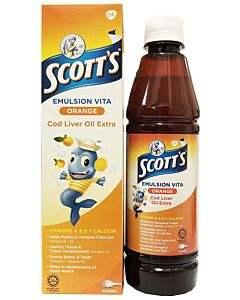 Scott's Emulsion Vita Cod Liver Oil Extra (Orange) 400ml - 31% OFF!!
