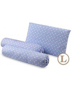 Comfy Living Bolster & Pillow Set (L) (Blue Star) - 30x50cm (L) - 20% OFF!!