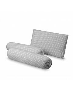 Comfy Living Bolster & Pillow Set (Grey) - 30x50cm (L) - 20% OFF!!