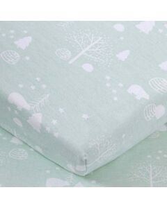 """Comfy Living - Fitted Sheet 24""""x48"""" - Green Bear - 20% OFF!!"""