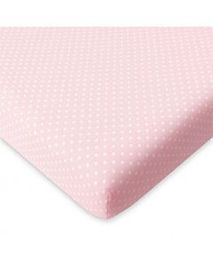 """Comfy Living - Fitted Sheet 24""""x48"""" - Pink Dot - 20% OFF!!"""