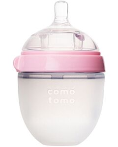 Comotomo Natural Feel Silicone Baby Bottle 150ml / 5oz (Pink) - 20% OFF!!