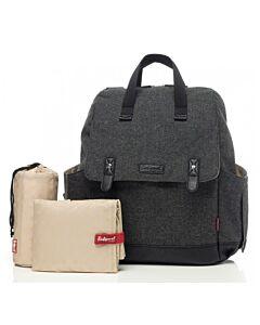 Babymel: Robyn Convertible Backpack - Tweed Grey - 15% OFF!!