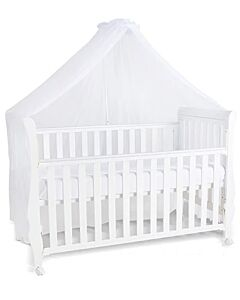 Happy Cot: Happy Moments 4 in 1 Convertible Baby Cot with Mattress & Net - White - 12% OFF!!
