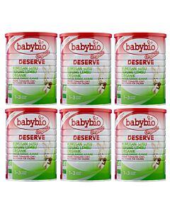 Babybio Deserve Formulated Cow's Milk for Children, 1 - 3 years (900g) x 6 TINS