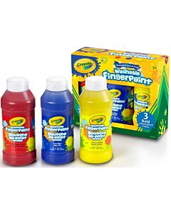 Crayola Washable FingerPaints Primary Bold Colours (3col x 236ml) - 10% OFF!!