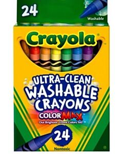 Crayola Ultra-Clean Washable Crayons Regular Set of 24 Colors - 10% OFF!!
