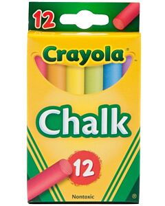 Crayola Coloured Chalks | 12 Nontoxic Chalk Sticks - 20% OFF!!
