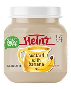 Heinz: Banana Custard 110g (From 6+ Months)