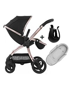 Egg® Stroller: Diamond Black On Rose Gold Chassis (SPECIAL EDITION) - 11% OFF!!