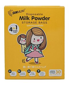 SUNMUM: Disposable Milk Powder Storage Bag (30 bags) *1 PACK* - 15% OFF!!