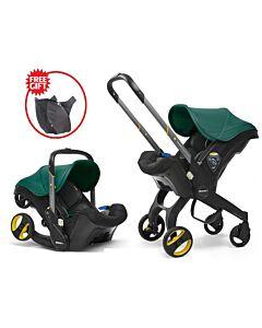 Doona Infant Car Seat Stroller *Model 2019* (FOC Snap On Storage Bag) - Racing Green - 18% OFF!!