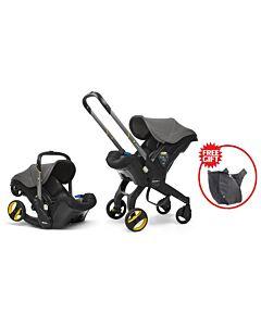 Doona Infant Car Seat Stroller *Model 2019* (FOC Snap On Storage Bag) - Urban Grey - 18% OFF!!