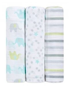 Aden+Anais Ideal Baby Muslin Swaddling - Dreamy (3 pack) - 30% OFF!!