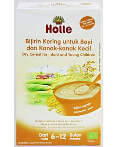 Holle Dry Cereal for Infant and Young Children (From 6 to 12 months) - Rice, Corn & Millet (250g)