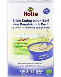 Holle Dry Cereal for Infant and Young Children (From 6 to 12 months) - Rice (250g)