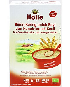 Holle Dry Cereal for Infant and Young Children (From 6 to 12 months) - Wheat (250g)
