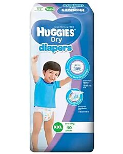 Huggies Dry Diapers XXL40 (over 14kg) Super Jumbo pack - 35% OFF!!