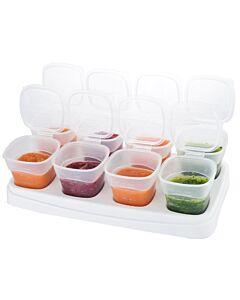 EASY Breastmilk & Baby Food Storage Cups (2oz) - White - 10% OFF!