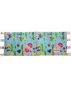 Beanie Nap - Pillow Cover with Taggies (Blue Zoo) - 10% OFF!!