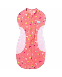 Gugu Premium Zipped Eyelet Swaddle - Flamingo