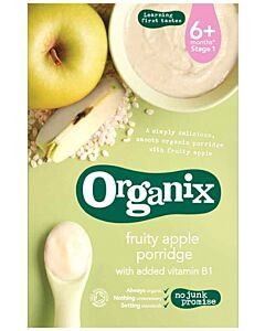 [50% OFF!] Organix Fruity Apple Porridge 120g (6+ Months) (Best by 2 June 2021)