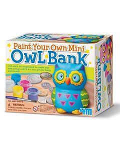 4M Paint Your Own | Mini Owl Bank - 15% OFF!!