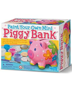 4M Paint Your Own | Mini Piggy Bank - 15% OFF!!