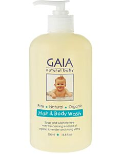 GAIA Hair & Body Wash 500ml (with fitted pump) (NEW!) - 50% OFF!!