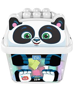 Mega Bloks: Build N' Learn First Builders 25pcs - Playful Panda Joueur - 10% OFF!!
