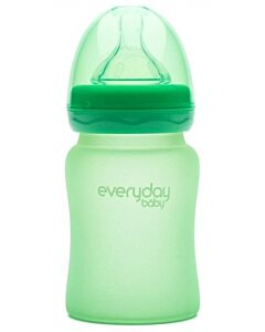 Everyday Baby MilkHero Glass Baby Bottle 150ml - Green - 15% OFF!