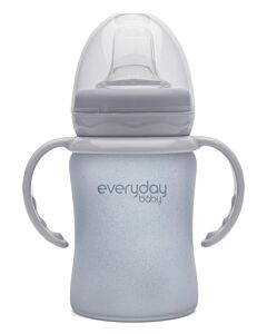 Everyday Baby Glass Sippy Cup (Shatter Protected) 150ml | Quiet Grey | - 15% OFF!!