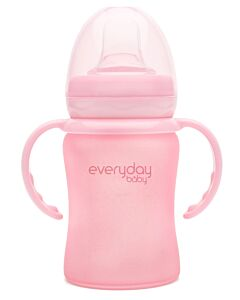 Everyday Baby Glass Sippy Cup (Shatter Protected) 150ml | Rose Pink | - 15% OFF!!