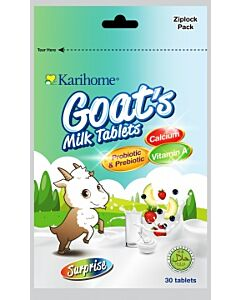 Karihome Goat's Milk Tablet (Probiotic & Prebiotic) 30 tablets | Surprise (4 Flavors in 1 Pack) - 10% OFF!!