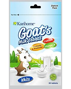 Karihome Goat's Milk Tablet (Probiotic & Prebiotic) 30 tablets | White (Original + Yoghurt Flavor) - 10% OFF!!