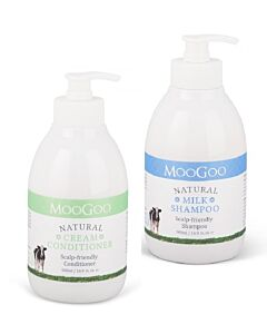 MooGoo: Haircare Value Pack (Cream Conditioner 500ml + Milk Shampoo 500ml) - 11% OFF!!