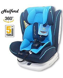 Halford: Zeus 360 Spin Car Seat Isofix - Blue