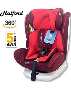 Halford: Zeus 360 Spin Car Seat Isofix - Red