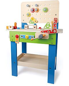 Hape Toys: Master Workbench Kid's Wooden Toolbench Pretend Builder Set - 15% OFF!!